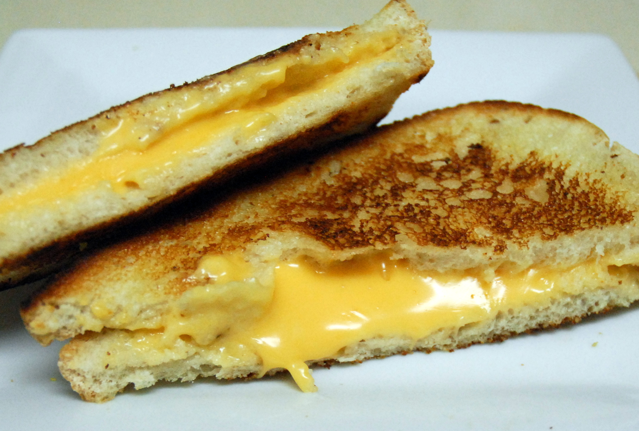 grilled cheese closeup